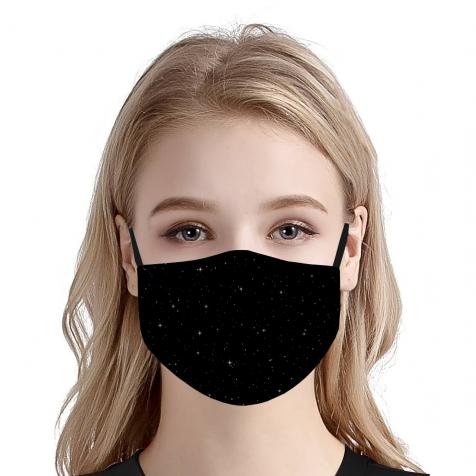 comprar Mascarillas homologadas tela higiénica negra estrellas sara carbonero