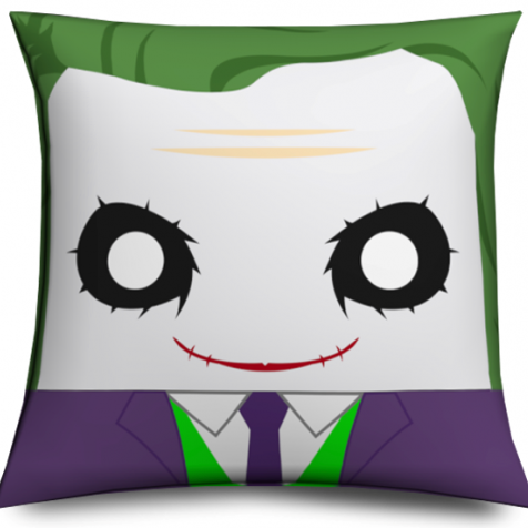 Cojin Joker cabezón original y divertido, Muñeco cabezón Joker - Joker Pillow like funko pop