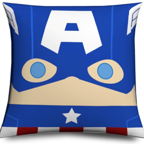 Cojín Capitán America original y divertido, Muñeco cabezón Capitán America - Captain America Pillow like funko pop