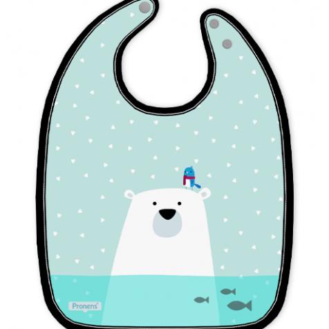 Baberos bebé originales impermeables personalizados Oso polar de secado rápido
