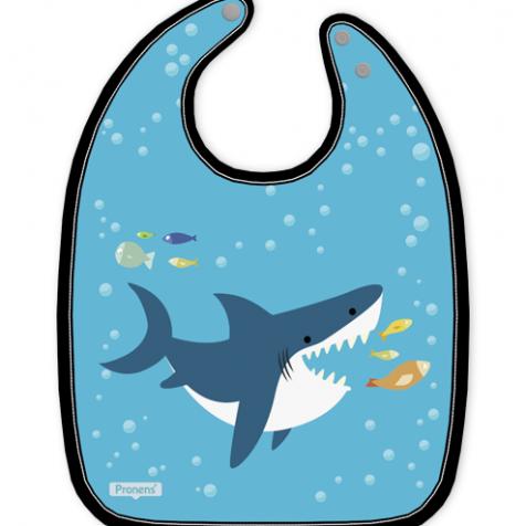 Babero bebé original impermeable personalizado Baby shark