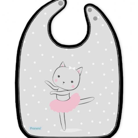 Babero bebé original impermeable personalizado bailarina