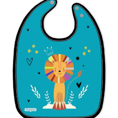 original Babero bebé personalizado impermeable león