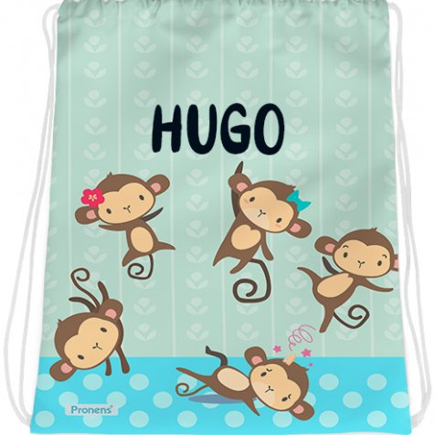comprar Bolsa mochila guardería personalizada impermeable Five little monkeys de PRONENS