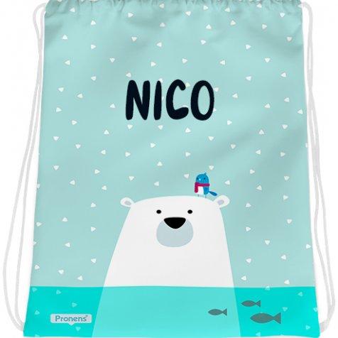 comprar Bolsa mochila guardería personalizada impermeable Oso polar de PRONENS