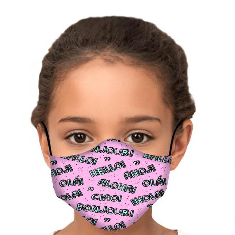 comprar Mascarillas infantiles homologadas tela higiénica rosa Aloha