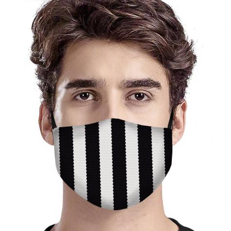 comprar Mascarillas homologadas tela higiénica rayas negras