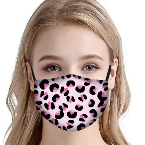 comprar Mascarillas homologadas tela higiénica leopardo rosa
