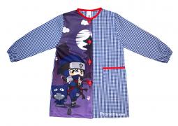 Bata babi escolar Ninja - Comprar online batas babis escolares de Ninja originales y divertidos Pronens