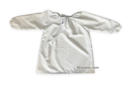 Bata sanitaria impermeable, lavable, transpirable y antibacteriana